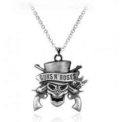 Collier Tête de Mort Gun N Roses