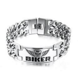 Bracelet Tête de Mort Biker