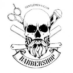 Sticker Tête de Mort Barbershop