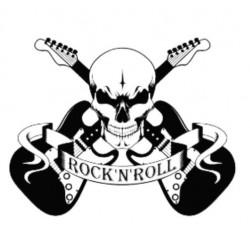 Sticker Tête de Mort Rock