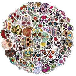 lot de magnifiques Stickers Tête de Mort Mexicaine