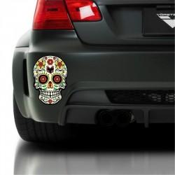Autocollant tête de mort mexicaine 5 modèles et 5 tailles