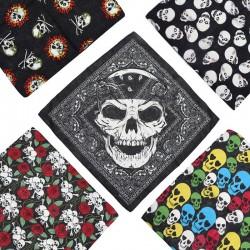Bandana tête de mort 100% coton huit modèles