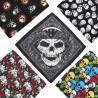 Bandana tête de mort 100% coton : huit modèles