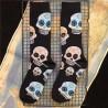 3 modèles de chaussettes standard têtes de mort