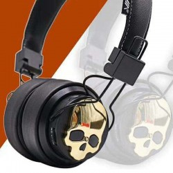 Casque Audio Bluetooth Tête de Mort