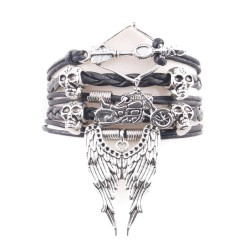 Bracelet Biker Tête de mort