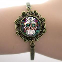 Bracelet Tête de Mort Mexicaine