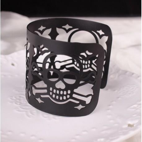Bracelet Tete De Mort Acier
