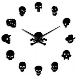 Horloge Murale Tête De Mort