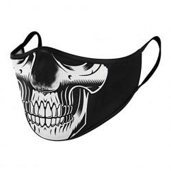 Masque Covid Tissu Tete de Mort