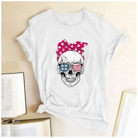 T-Shirt Tete De Mort Femme
