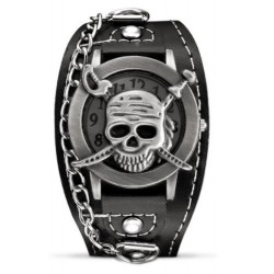 Montre Bracelet Tête de Mort Crane de Pirate