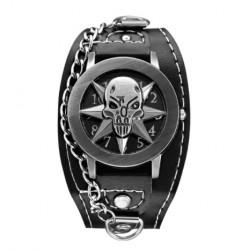 Montre Bracelet Tête de Mort Punk