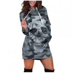 Robe Camouflage Militaire Urbain Tête de Mort couleur gris