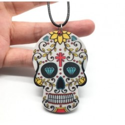 Pendentif Tête De Mort Mexicaine