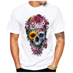 T Shirt Tête de Mort Tradition Mexicaine - modele 1