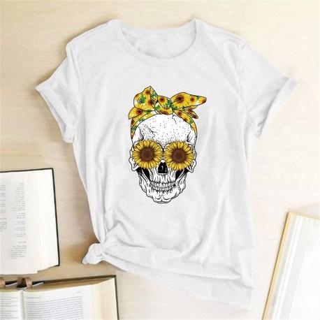 Tee Shirt Tete De Mort Femme