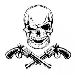 Sticker Tête de Mort Gun