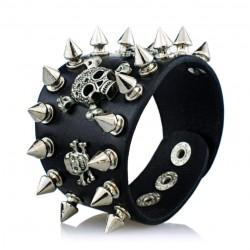 Bracelet Tête de Mort Gothique