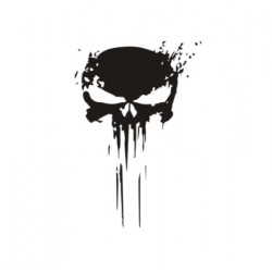 Sticker Tete de Mort Punisher