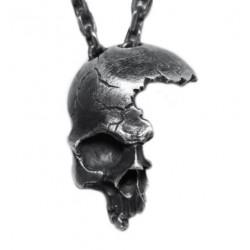 Collier Tête de Mort Crâne Brisé