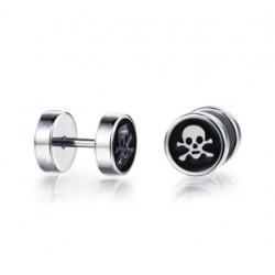 Boucles d'Oreilles Tête de Mort Pirate
