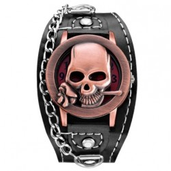 Montre Bracelet Tête de Mort Rose Mortelle