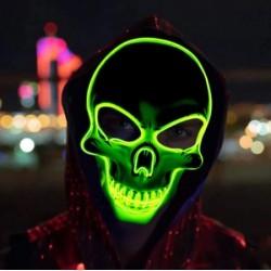 Masque Lumineux Tête de Mort