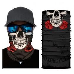 Tour de Cou Tête de Mort Roses Rouges